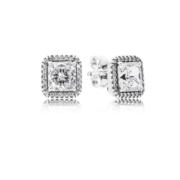 6d4ef8936 PANDORA Timeless Elegance Stud Earrings, Clear CZ.  M_5a7b8b069a94559ef9238298